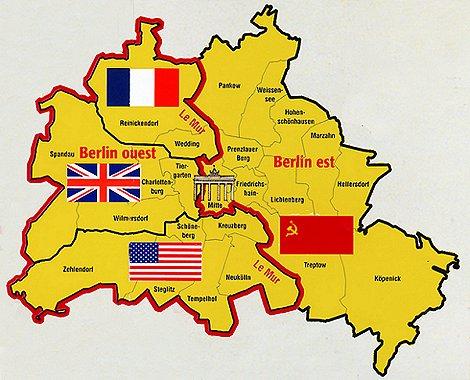 carte mur de berlin
